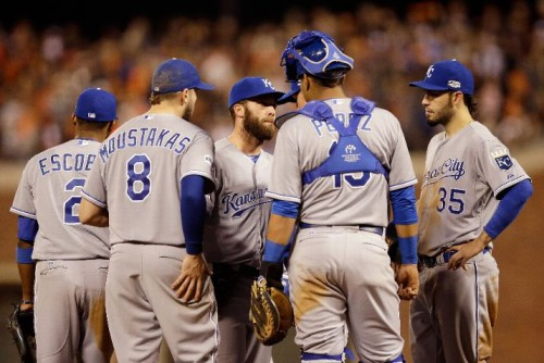 Battling with the Giants, the Kansas City Royals are two wins away from a championship. (Photo by Ezra Shaw/Getty Images)