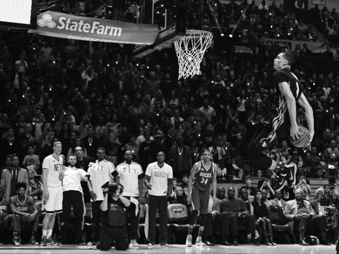Zach LaVine took flight during All-Star weekend's slam dunk contest, but can he do more than fly high? (Photo credit: Brian Babineau/NBAE via Getty Images)