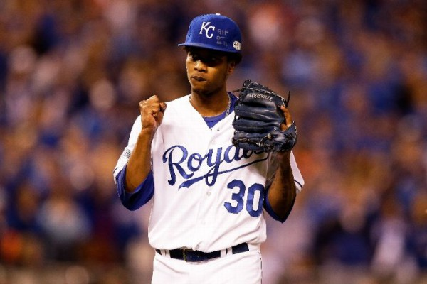 With James Shields gone, Yordano Ventura steps into the spotlight as the Royals ace. Can he deliver?  (Photo by Ezra Shaw/Getty Images)