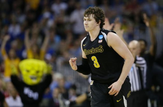 Evan Wessell and the Shockers are done shocking the world. They are among the college basketball elite. (AP Photo/Charlie Neibergall)