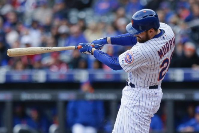 The Mets were anchored by Daniel Murphy's three-run double on Thursday, leading to the team's 11th straight victory. (AP Photo/Frank Franklin II)