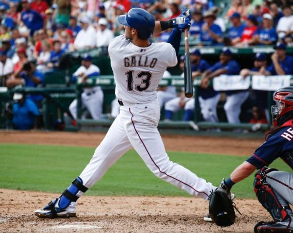 Joey Gallo has done nothing but mash since his debut on June 2nd, anchoring a Rangers team that roared into contention in the AL West. (AP Photo/Jim Cowsert)