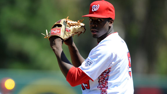 The acquisition of Touki Toussaint by the Atlanta Braves is considered to be a coup. (Photo credit: ProspectInsider.com)